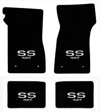 NEW 1967-1969 Camaro Floor Mats Black Carpet Embroidered SS 427 Logo on all 4