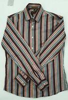 Ben Sherman Special Brew striped mens shirt Retro medium button up long sleeve