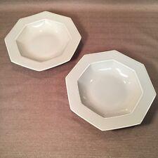 Set of 2 Rare Mikasa Jack Lenor Larsen Olive-Drab Cereal Soup Bowls Mint