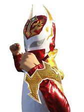 SIN CARA (6yr-11yr) Halloween Lucha Libre Luchador Complete Costume Set - Red