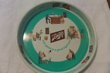 """schlitz metal 13"""" serving tray in used condition"""