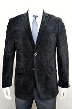 Men's Black 2 Button Velvet Cotton Blazer w/ Ticket Pocket SIZE 42S NEW