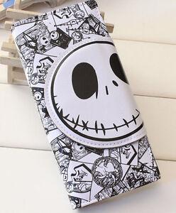 Nightmare- before Christmas Jack Skellington Cartoon Wallet Fold Purse Bag