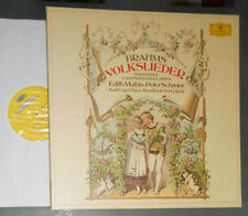BRAHMS VOLKSLIEDER EDITH MATHIS PETER SCHREIER KARL ENGEL 3-LP BOX