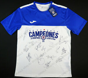 2021 CRUZ AZUL team signed Joma Liga MX CAMPEON jersey PROOF 15 autographs