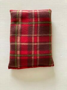 RED TARTAN MICROWAVE LAVENDER WHEAT BAGS SQUARE SHAPE - PAIN RELIEF & RELAXATION