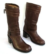 FREE LANCE Mid boots Biker Leather Fauve T 38 VERY GOOD CONDITION