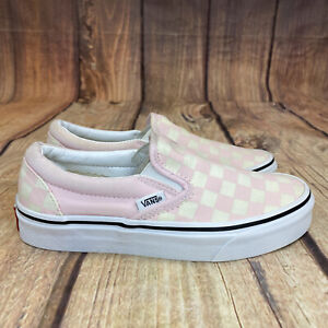 Vans Slip On Checkerboard Skateboarding Women Size 5 Classic Athletic Shoes