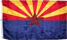 3x5 Embroidered Sewn Double Sided Arizona 300D Flag House Banner Grommets