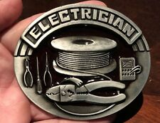 New Electrician Belt Buckle Electric Wireman Lineman Juicer Electrical Engineer