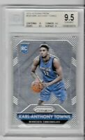 2015/16 Panini Prizm Karl Anthony Towns ROOKIE #328 BGS 9.5 Timberwolves RC