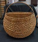 Huge 19  x 18  Primitive Egg or Buttocks Basket