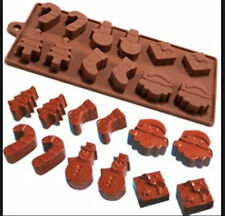 Christmas Assortment 12 cavity Silicone Mold for Fondant, GP, Chocolate, Crafts