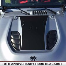 Jeep Wrangler Hood blackout fits 10A Rubicon X style hoods Matte Black 2007-2016