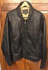 James Dean Authentic Classic Motorcycle Leather Jacket Black Bomber Men XL