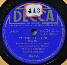 Woody Herman You're the One 78 Blue Decca 3528 NICE Love of My Life Dance Band