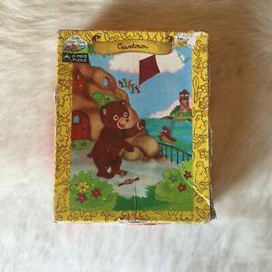 Little Golden Book Land LITTLE BROWN BEAR 1989 JIgsaw Puzzle 25 Piece VERY RARE