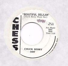 CHUCK BERRY * 45 * Beautiful Delilah * DJ PROMO * 1958 #81 * USA ORIGINAL CHESS