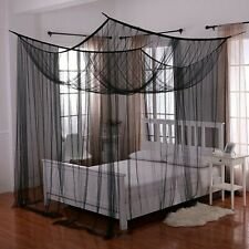 Palace Casablanca Sheer Bed Canopy Mosquito Netting Ecru Twin-King black