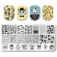 BORN PRETTY Nail Art Stamp Plate Manicure Image Template DIY Cute Animal BPL-63