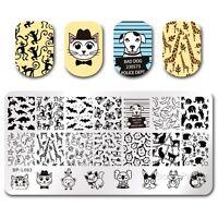 Nagel Kunst Schablone Stempelplatte Stamping Plate Tier Design BPL-63