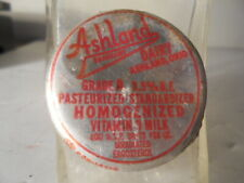 Vintage Ashland Sanitary Dairy Ohio Milk Bottle Cap Paper Lined Foil Lid RARE !!