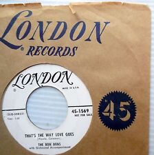 BON BONS That's the way love goes / Make my dreams come true 1955 PROMO 45 e5895