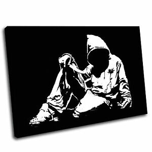 Banksy Fallen Youth Canvas Wall Art Print Framed Picture PREMIUM QUALITY 5