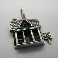 Sterling Silver HOUSE FOR SALE Charm for Bracelet PENDANT Real Estate Agent GIFT