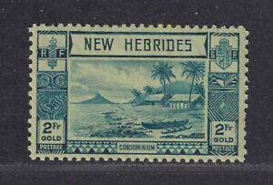 New Hebrides SG 61 Scott 59 VF LH 1938 2f Lopevi Island/Outrigger Canoe CV £30