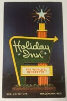 Vintage INDIANA postcard Holiday Inn hotel marque  advertising GOSHEN IN 1960s