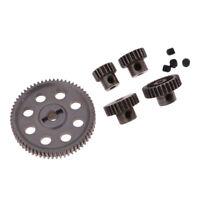 Steel Diff Main Gear 64T & Motor Pignoni 29T / 26T / 21T / 17T per HSP 1/10