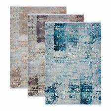 Moderner Designerteppich APEX Luxia Vintage Blocks 3 Größen Beige Blau Braun