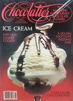 Chocolatier Vtg Gourmet Chocolate 1984 Magazine #2 - Ice Cream - No Label VG