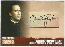 British Horror Collection Cut Autograph Card CL20 Christopher Lee as Dracula