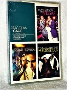The Nicolas Cage Collection (DVD, 2010) Moonstruck Honeymoon Leaving Las Vegas