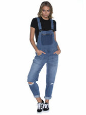 "NEW + TAG BILLABONG WOMENS SIZE 30"" / 12 MELLOW DENIM OVERALLS BOWIE WASH BLUE"