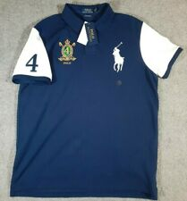 NWT Polo Ralph Lauren Big Pony Embroidered #4 Crest Navy Blue XL Sport $98