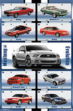 Ford Mustang EVOLUTION 1969-2014 American Muscle Car Official Autophile Poster