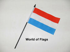 """LUXEMBOURG SMALL HAND WAVING FLAG 6"""" x 4"""" Flags Crafts Table Desk Display"""