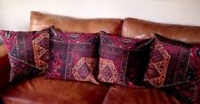 """Mulberry Oriental Tapis Velours Housse de Coussin Or Rouge Rouge aubergine 18"""""""