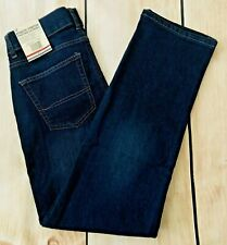 NEW Tommy Hilfiger Athletic Stretch Jeans Relaxed Fit Dark Wash Boys 12 28x28