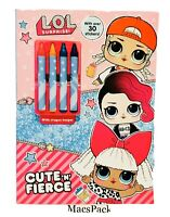 Lol Surprise Dolls Coloring Activity Book Birthday Gift Series 4 5 6