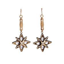 E751 Betsey Johnson Wedding Lucky Star Crystal Gem Jewelery Hoop Earrings US