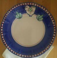Vietri Campagna 1 Chicken Rim Dinner Plate Italy Solimene Rare Art Pottery