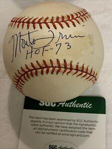 Monte Irvin HOF 73 Autographed New York Giants OMLB NL Baseball SGC COA