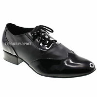 TPS Black Mat & Patent Men's Latin Ballroom Dance Shoes All Sizes M2