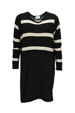 Isay Boa Striped Dress Black/Sand Size L LF075 JJ 08