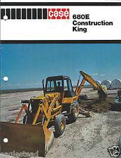 Equipment Brochure Case 680e Construction King Loader Backhoe E2975