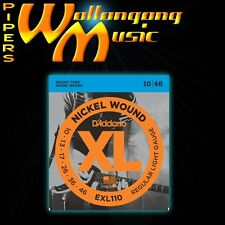 D'Addario EXL110 10-46 Regular Light Electric Guitar Strings Set 10/46 Nickel